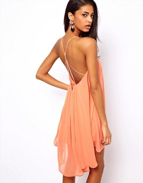 Image 1 of ASOS Cami Swing Dress With Gold Back Detail