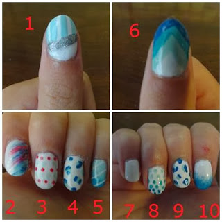 Clothes & Dreams: I've got my hands full with experiments nail arts