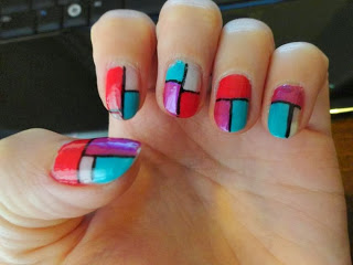 Clothes & Dreams: Arty-farty Mondriaan-ish Nail art