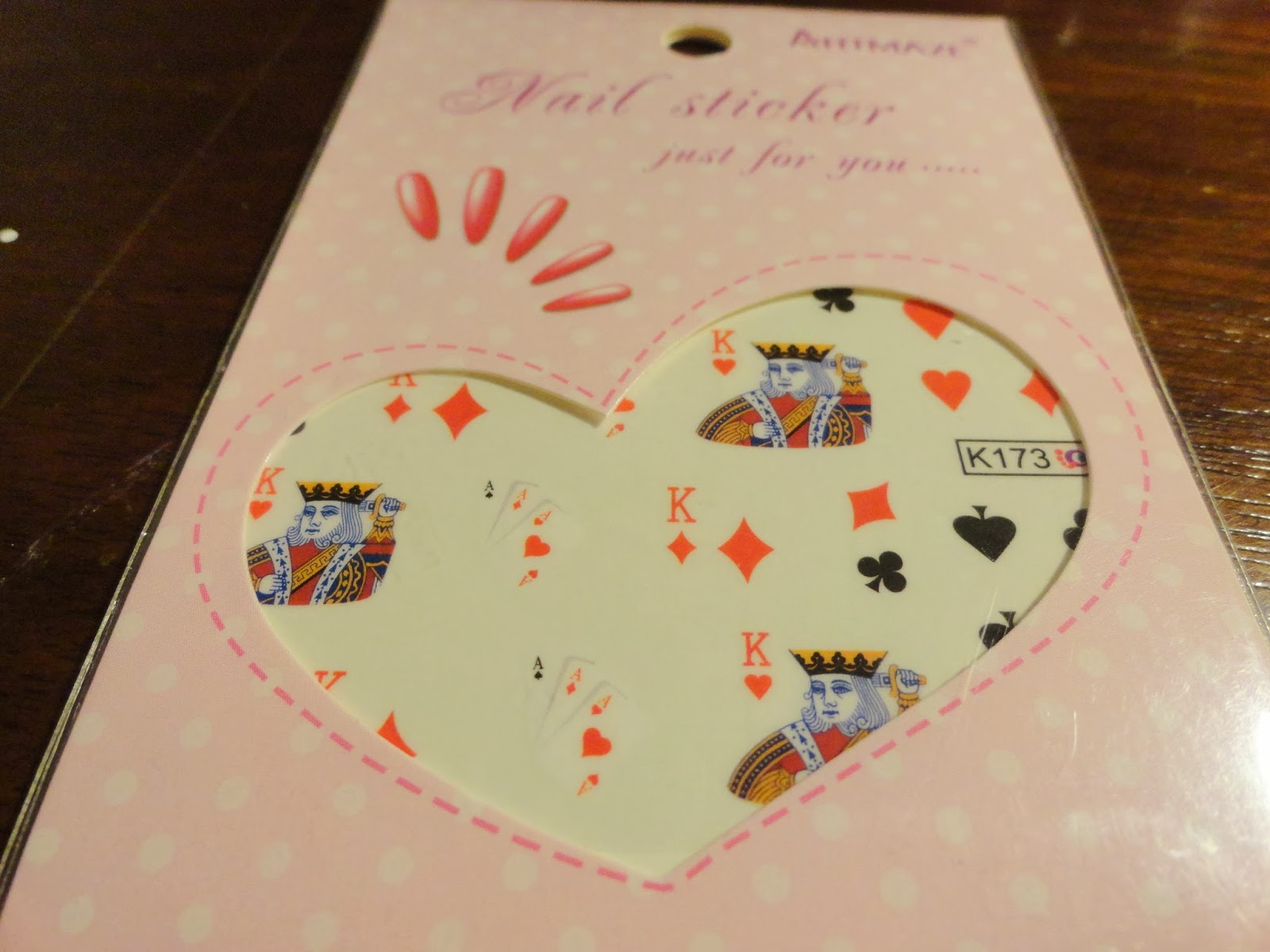 Clothes & Dreams: Ebay nail art shoplog: card game nail stickers
