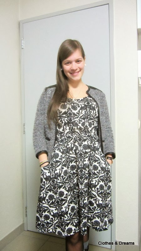 Clothes & Dreams: OOTD: Exam results: outfit Vila dress with Primark blazer