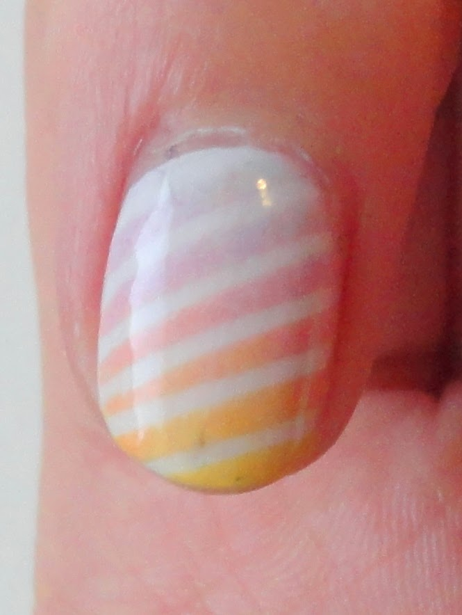 Clothes & Dreams: NOTD: Easter nails: detail of nail art on forefinger
