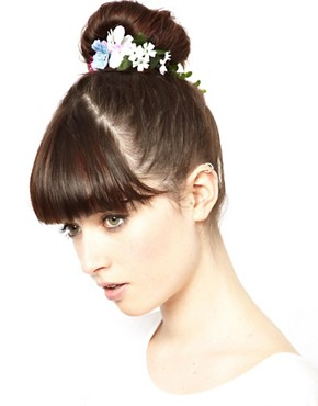 Image 1 of ASOS Flower & Ivy Hair Bun Holder