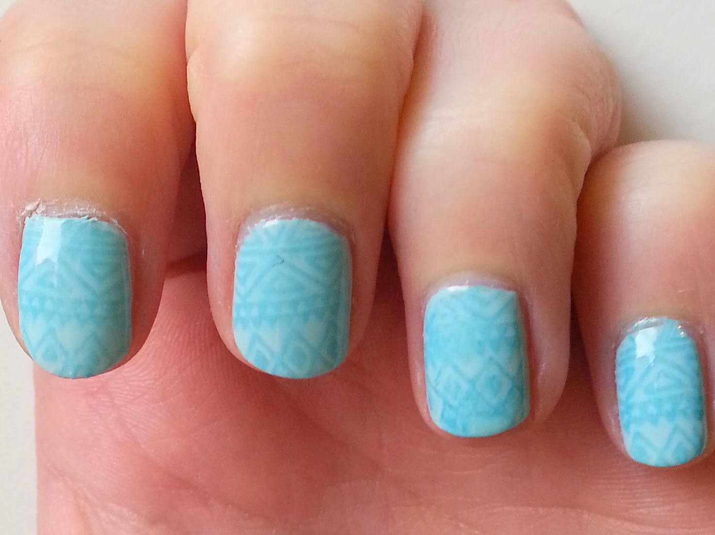 Clothes & Dreams: NOTD: Stamped Aztec: details of nail art