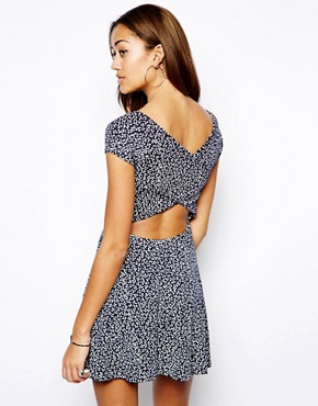 Image 1 of Club L Cross Back Skater Dress