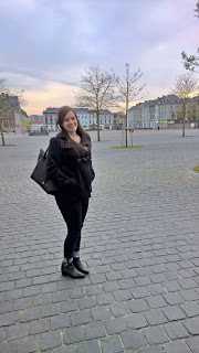 Clothes & Dreams: New from head to toe: H&M black bag, Bershka coat, Levi's jeans, Geox ankle boots